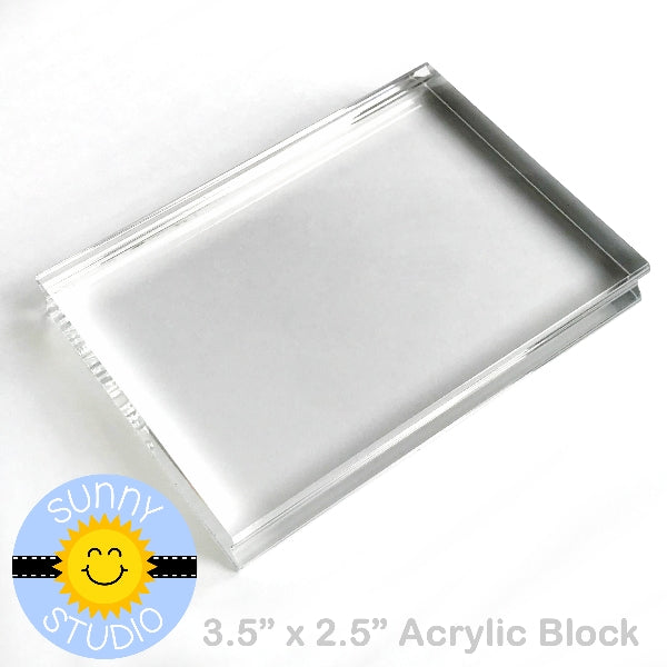 "Sunny Studio Stamps 2.5"" x 3.5"" Rectangle Acrylic Block for Clear Photopolymer Stamping"