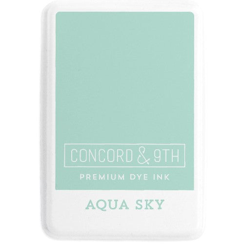 Concord & 9th Aqua Sky Full Size Premium Dye Ink Pad for Stamping