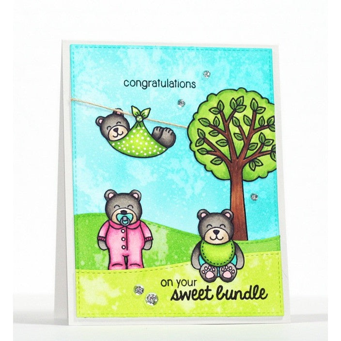 Sunny Studio Stamps Baby Bear Three Bears Card