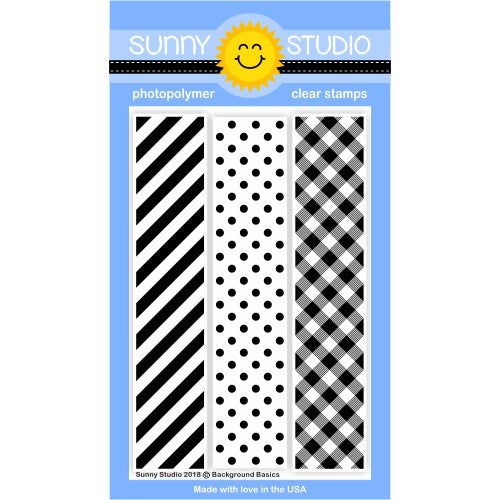 Sunny Studio Stamps Background Basics 4x6 Clear Photopolymer Stamp Set