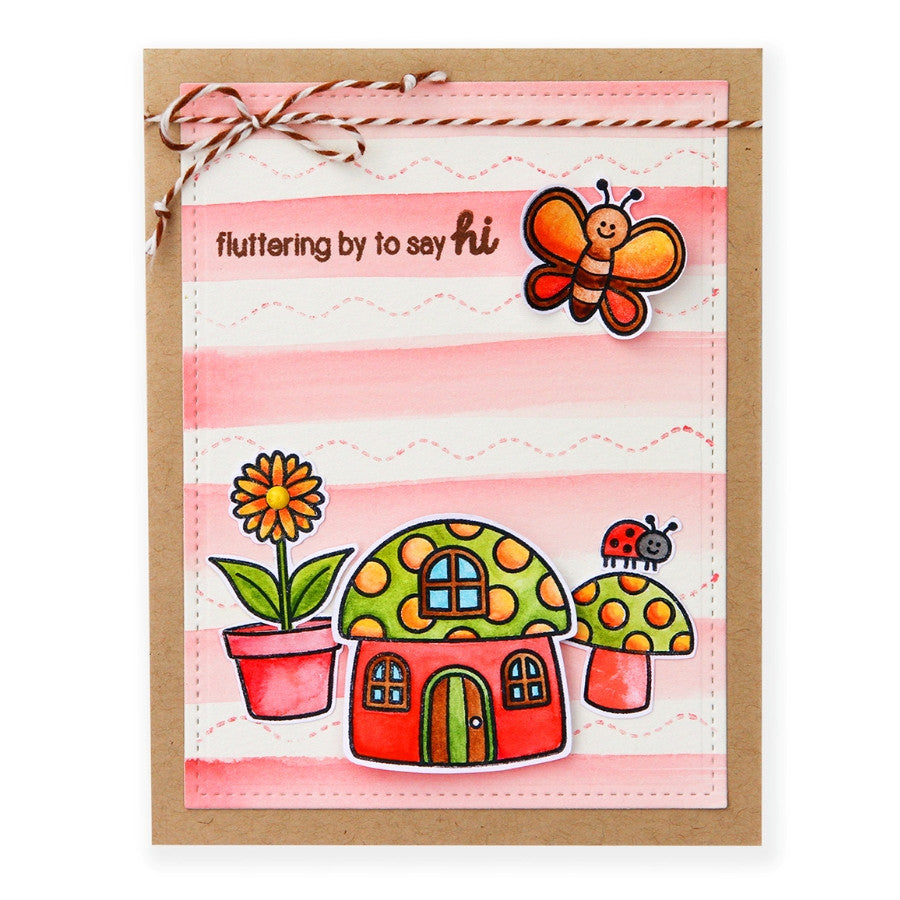 Sunny Studio Stamps Backyard Bugs Striped Fluttering By To Say Hi Butterfly Card
