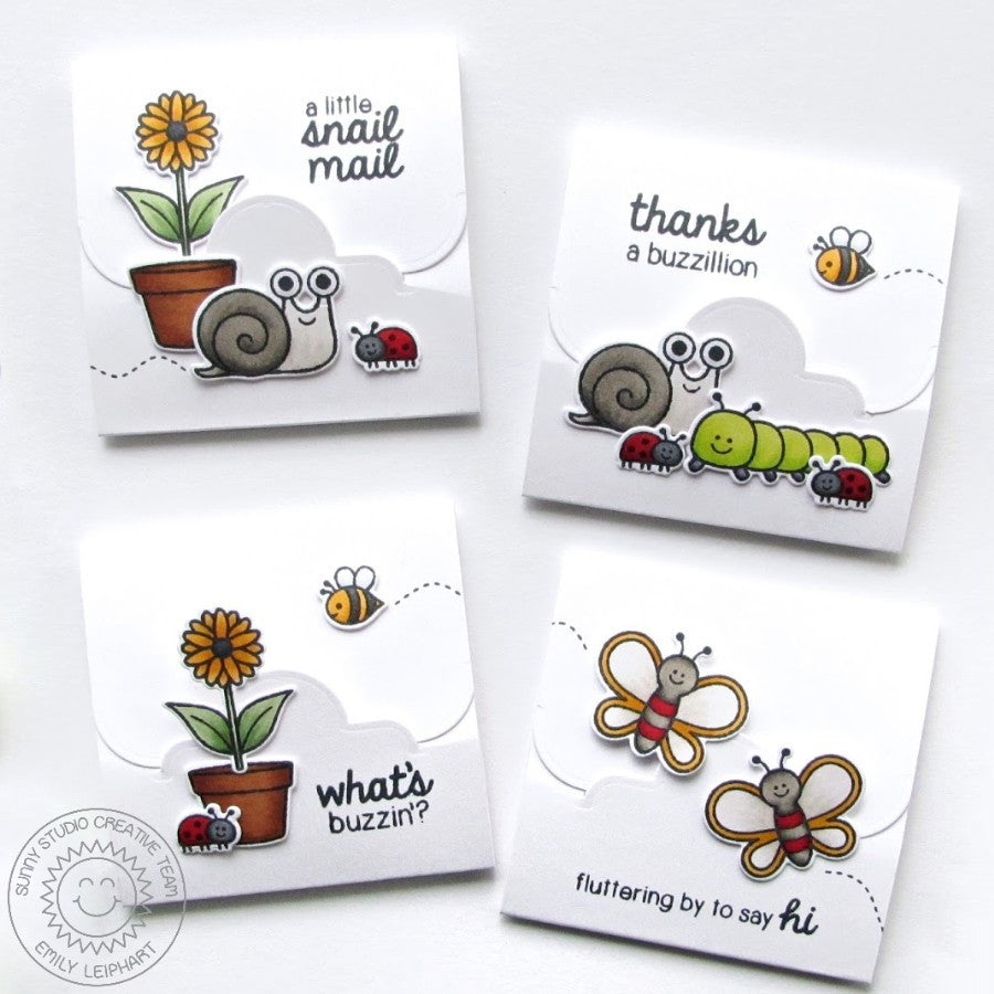 Sunny Studio Stamps Backyard Bugs Lunch Love Notes