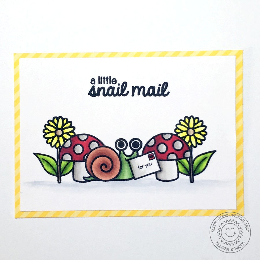 Sunny Studio Stamps Backyard Bugs Snail Mail Card