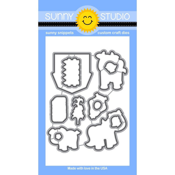 Sunny Studio Stamps Barnyard Buddies Farm Animals Die Set