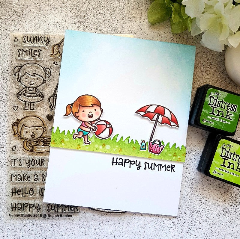 Sunny Studio Stamps Beach Babies Summer Picnic Card