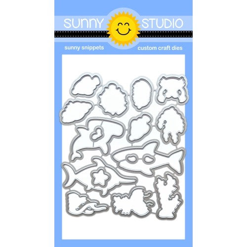 Sunny Studio Stamps Best Fishes Matching Metal Cutting Die Set