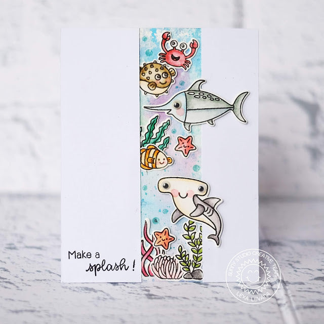 Sunny Studio Stamps Best Fishes Make A Splash Under The Sea Window Card