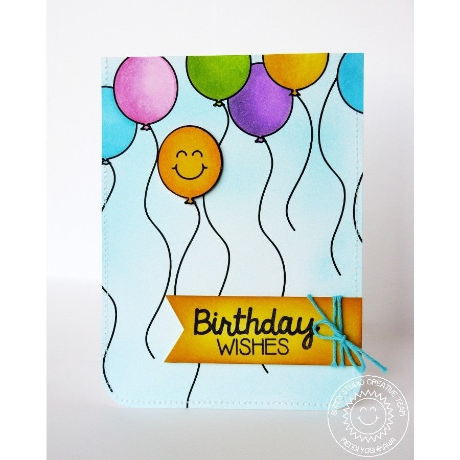 Sunny Studio Stamps Birthday Smiles Balloon Card