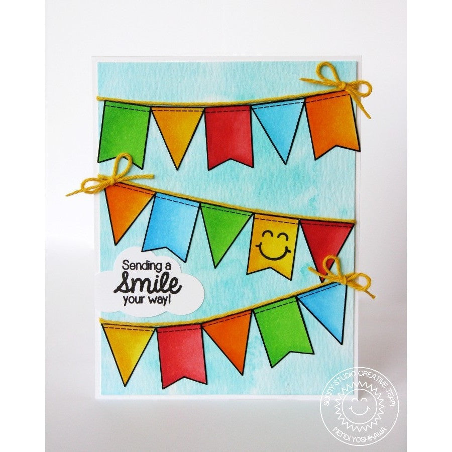 Sunny Studio Stamps Birthday Smiles Banner Card