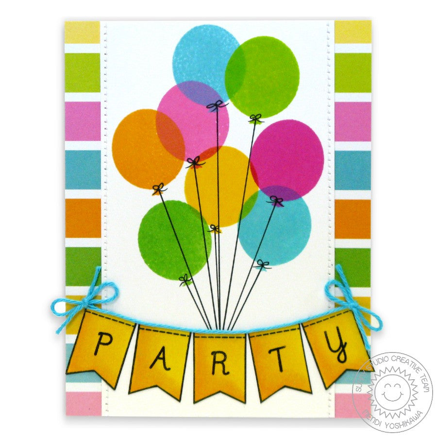 Sunny Studio Stamps Birthday Smiles Balloons Party Card