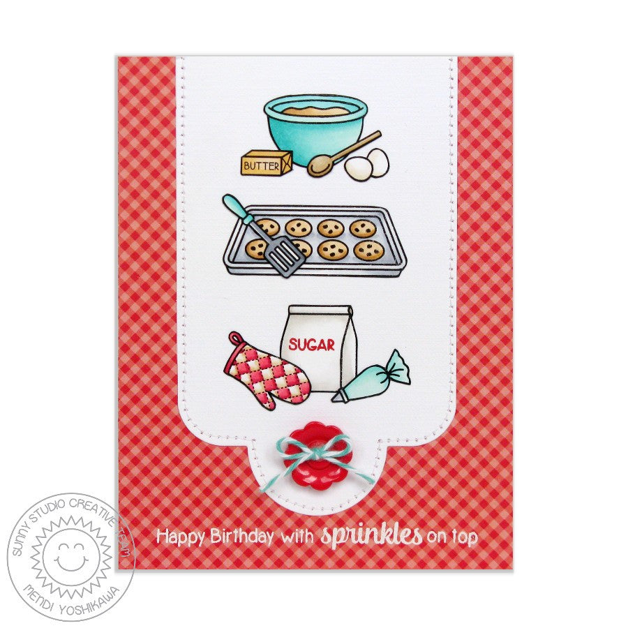 Sunny Studio Stamps Blissful Baking Sprinkles of Fun Birthday Card