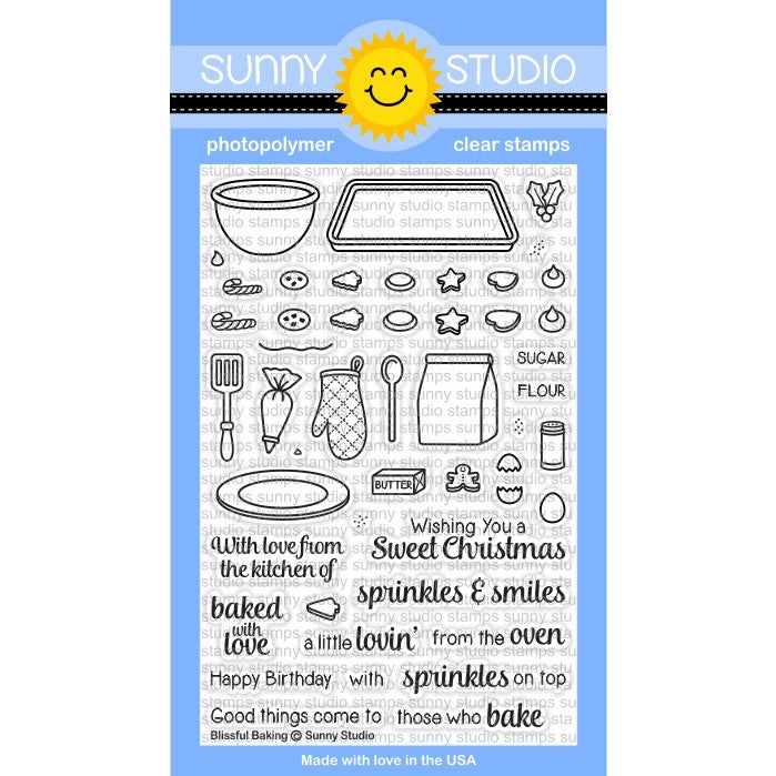 Sunny Studio Stamps Blissful Baking 4x6 Photo-Polymer Clear Stamp Set