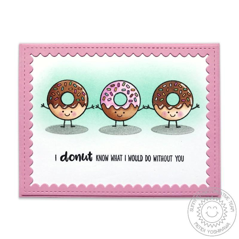 Sunny Studio Stamps Breakfast Puns Donut Know What I Would Do Without You Card