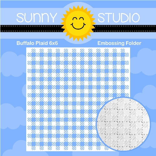 Sunny Studio Stamps Buffalo Plaid Gingham Texture 6x6 Embossing Folder for Embossed Cards