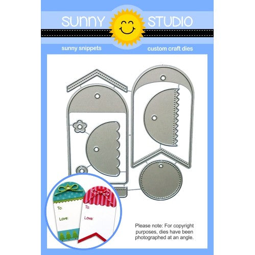 Sunny Studio Stamps Build-A-Tag #1 Metal Cutting Die Set
