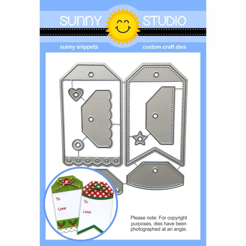 Sunny Studio Stamps Build-A-Tag #2 Metal Cutting Die Set