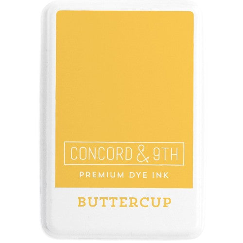 Concord & 9th Buttercup Full Size Premium Dye Ink Pad for Stamping