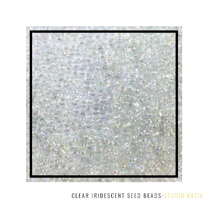 Studio Katia Clear Iridescent 2mm & 3mm Seed Beads