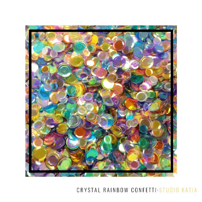 Studio Katia Crystal Rainbow Confetti Mix with 4mm, 5mm & 6mm