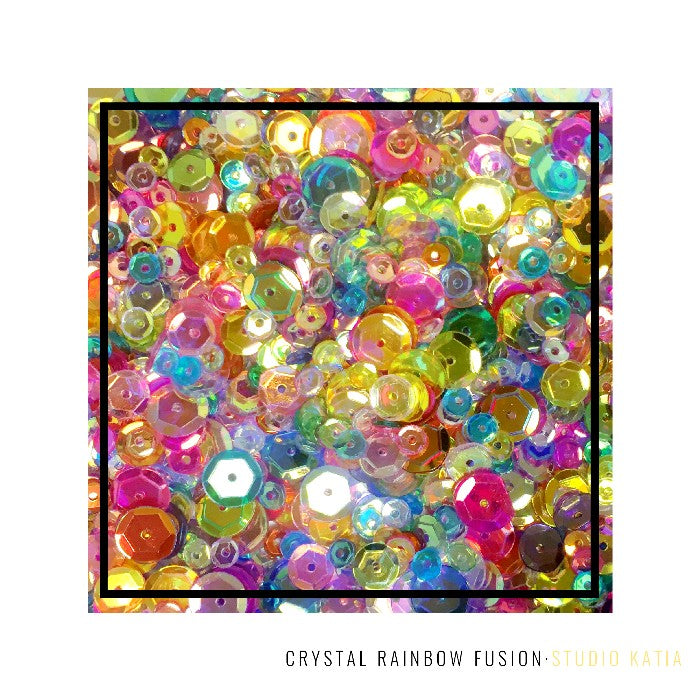 Studio Katia Crystal Rainbow Fusion Sequins Mix