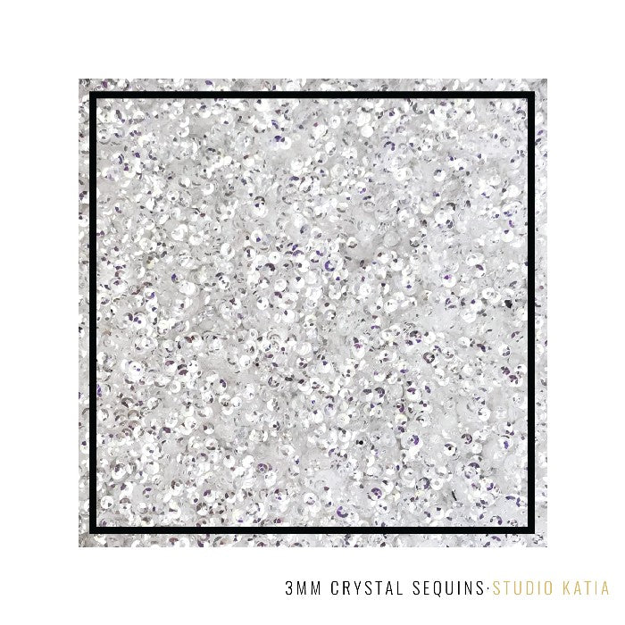 Studio Katia Crystal Clear 3MM Mini Sequins with Mirror Like Finish