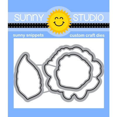 Sunny Studio Stamps Captivating Camellias Metal Cutting Dies SSDIE-226
