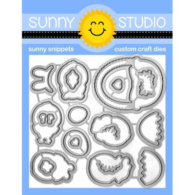 Sunny Studio Stamps Chickie Baby Easter Metal Cutting Dies Set