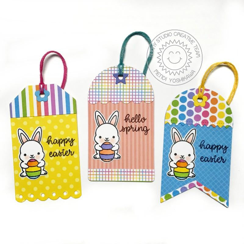 Sunny Studio Stamps Bunny Spring Gift Tags for Easter Basket (using Build-A-Tag 1 & 2 Dies)