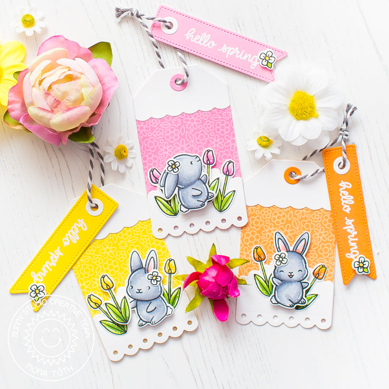 Sunny Studio Stamps Chubby Bunny Easter Gift Tags by Mona Toth