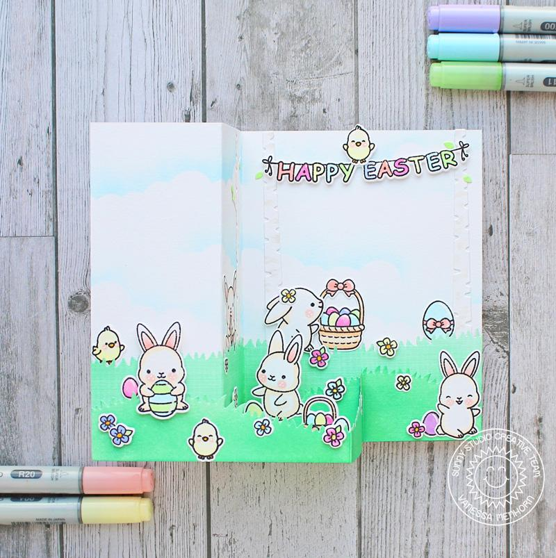 Sunny Studio Stamps Chubby Bunny Pop-up Easter Card