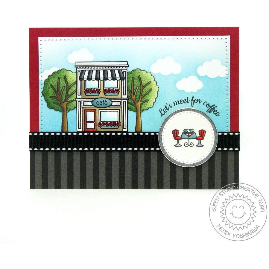 Sunny Studio Stamps City Streets Cafe Card