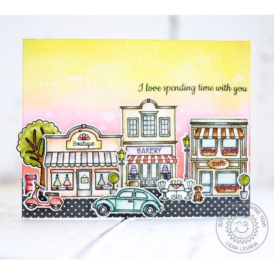 Sunny Studio Stamps City Streets Love Spending Time With You Card