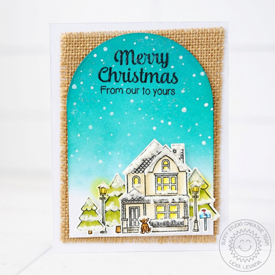 Sunny Studio Stamps City Streets Christmas Card
