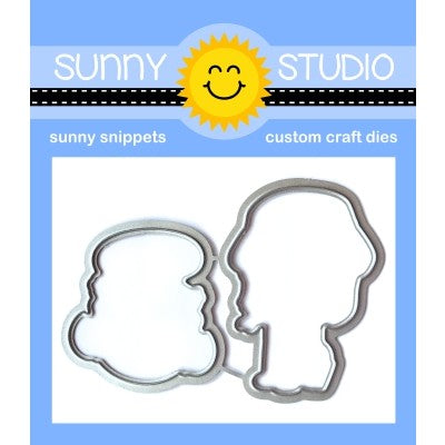 Sunny Studio Stamps Coastal Cuties Low Profile Metal Cutting Dies
