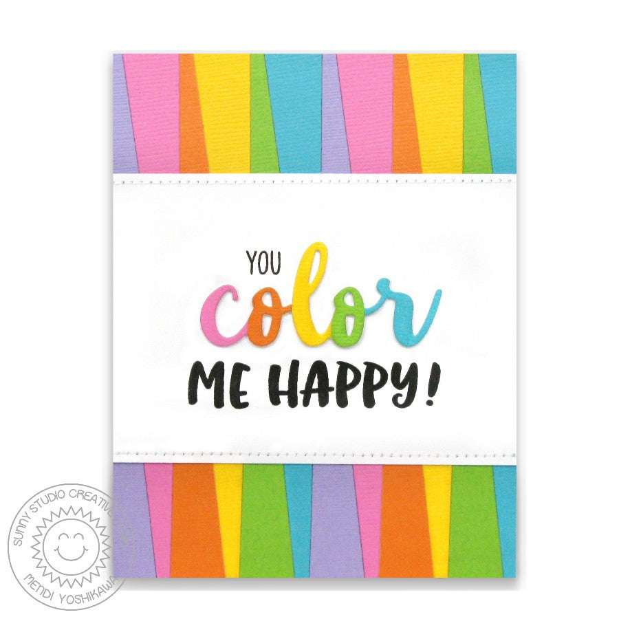 Sunny Studio Stamps Rainbow You Color My Happy Card