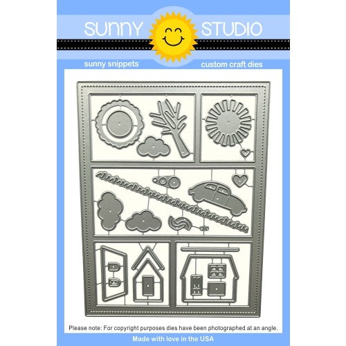 Sunny Studio Stamps Comic Strip Everyday A2 Colorblock Steel Rule Die Set