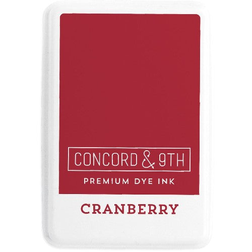 Concord & 9th Cranberry Full Size Premium Dye Ink Pad for Stamping