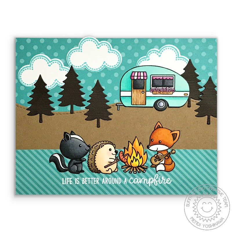 Sunny Studio Stamps Critter Campout Life Is Better Around A Campfire Card