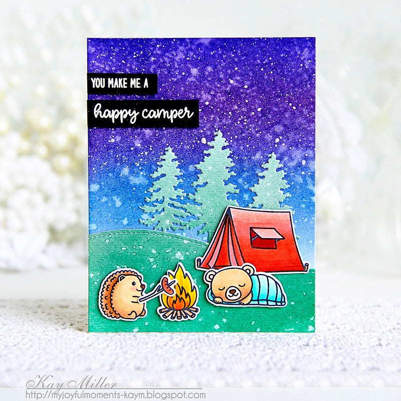 Sunny Studio Stamps Critter Campout Camping Card by Kay Miller