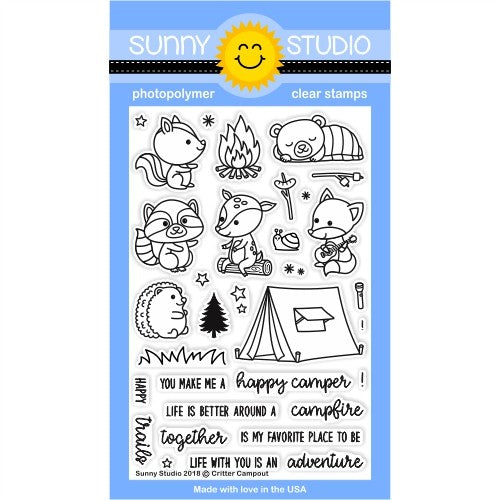 Sunny Studio Stamps Critter Campout 4x6 Clear Photopolymer Stamp Set
