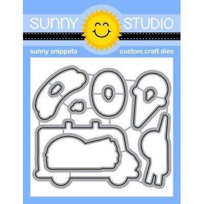 Sunny Studio Stamps Cruisin' Cuisine Metal Cutting Dies