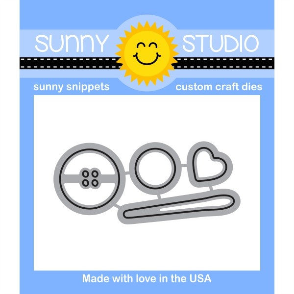 Sunny Studio Stamps Cute As A Button Die Set