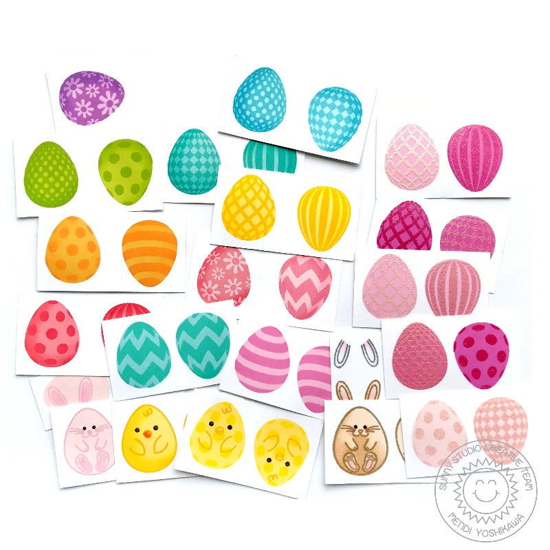 Sunny Studio Stamps Eggs To Dye For Stamped Examples