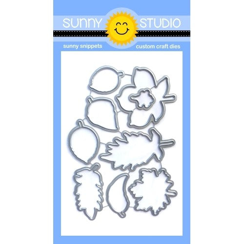 Sunny Studio Stamps Elegant Leaves Fall Low Profile Metal Cutting Dies