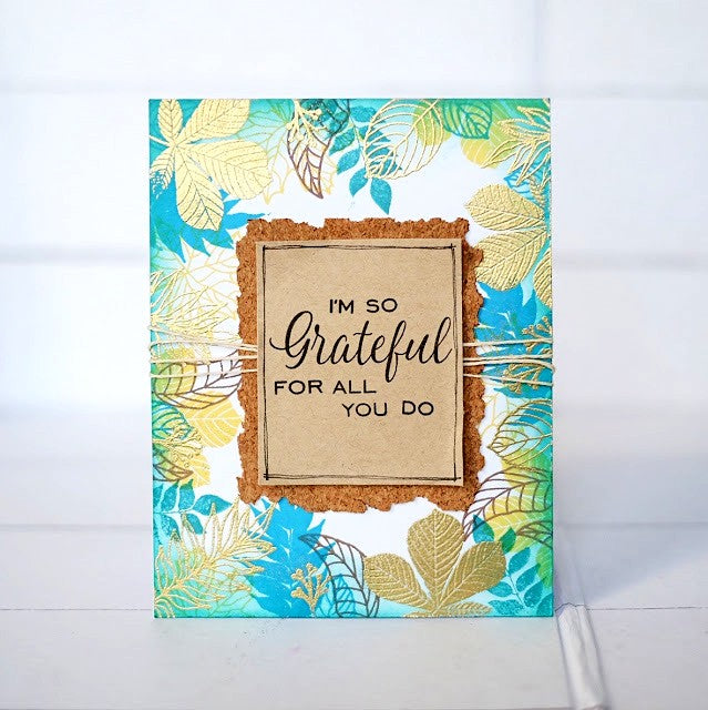 Sunny Studio Stamps Elegant Leaves I'm so Grateful For All You Do Fall Card by Lexa Levana
