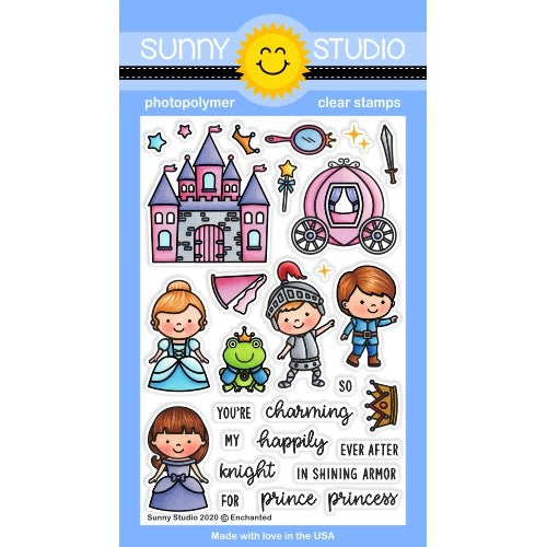 Sunny Studio Stamps Enchanted Fairytale Princess 4x6 Clear Photopolymer Stamp Set