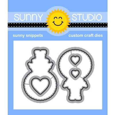 Sunny Studio Stamps Eskimo Kisses Coordinating Metal Cutting Dies