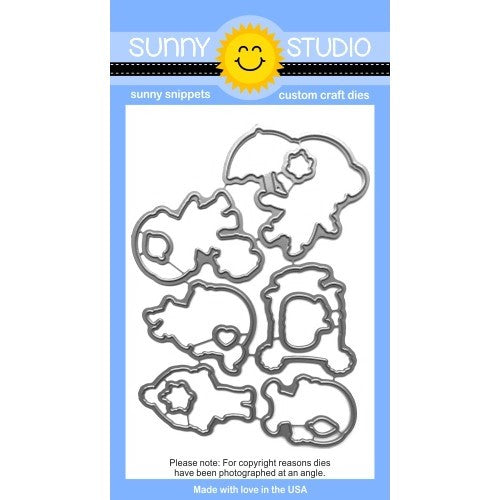 Sunny Studio Stamps Fall Kiddos Metal Cutting Die Set
