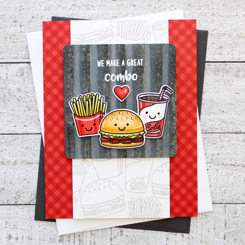 Sunny Studio Stamps Fast Food Fun We Make A Great Combo Card by Leanne West