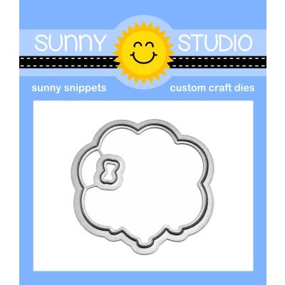 Sunny Studio Stamps Floating By Balloon Bouquet Metal Cutting Dies Set